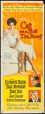 """Cat on a Hot Tin Roof (MGM, 1958). Insert (14"""" X 36""""). Drama"""