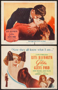 "Movie Posters:Film Noir, Gilda (Columbia, 1946). Title Lobby Card & Lobby Card (11"" X14""). Film Noir.. ... (Total: 2 Items)"