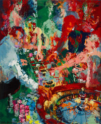 LeRoy Neiman (American, 1921-2012) Roulette Las Vegas, 1958 Oil on canvas 44-1/4 x 36 inches (112