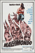 """Movie Posters:Foreign, Malamondo (Magna, 1964). One Sheet (27"""" X 41""""), Lobby Card Set of 8 (11"""" X 14""""), Photos (9) (8"""" X 10""""), Uncut Pressbook (8 P... (Total: 21 Items)"""