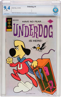Underdog #1 (Gold Key, 1975) CBCS NM 9.4 White pages