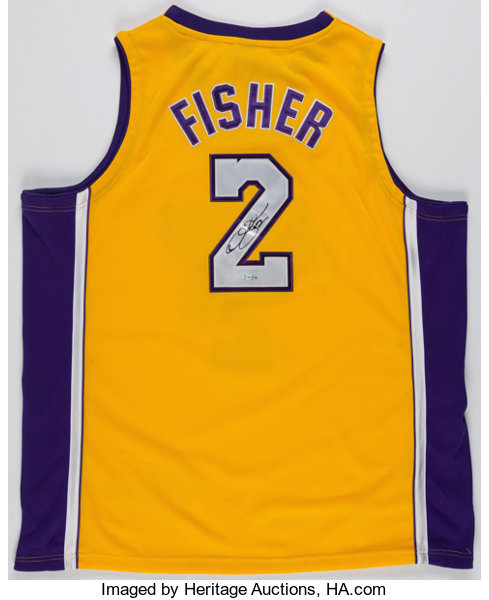 Derek Fisher Signed Los Angeles Lakers Jersey.... Basketball  6c3c5ca49