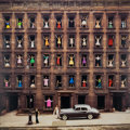 Photographs:Chromogenic, Ormond Gigli (American, b. 1925). Girls in the Windows, New York City, 1960. Dye coupler, circa 2000. 50 x 50 inches (12...