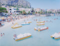 Photographs:Chromogenic, Massimo Vitali (Italian, b. 1944). Mondello Paddle Boats, 2007. Dye coupler mounted on diasec. 34-1/2 x 45 inches (87.6 ...
