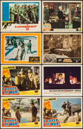 "Movie Posters:Action, I Cover the War & Others Lot (Realart Pictures, R-1948). LobbyCards (8) (11"" X 14""). Action.. ... (Total: 8 Items)"