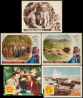 "Movie Posters:War, Sands of Iwo Jima & Other Lot (Republic, 1950). Lobby Cards (4)(11"" X 14"")& Trimmed Lobby Card (10"" X 13""). War.. ... (Total:5 Items)"
