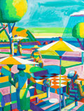 Paintings, Roland Petersen (American, b. 1926). The Rockaway Picnic, 2011. Oil on canvas. 40 x 30 inches (101.6 x 76.2 cm). Signed ...