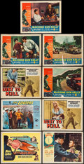 """Movie Posters:Film Noir, The Long Wait & Others Lot (United Artists, 1954). Title Lobby Card & Lobby Cards (8) (11"""" X 14""""). Film Noir.. ... (Total: 9 Items)"""