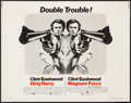"Movie Posters:Crime, Dirty Harry/Magnum Force Combo (Warner Brothers, 1975). Half Sheet(22"" X 28""). Crime.. ..."