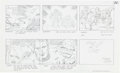"Original Comic Art:Miscellaneous, Jack Kirby Fantastic Four ""Blastaar the Living Bomb Burst""Storyboard #54 Original Animation Art (DePatie-Freleng,..."