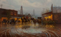Paintings, G. (Gerald Harvey Jones) Harvey (American, b. 1933). Beginning of a Boomtown, 1981. Oil on canvas. 30 x 48 inches (76.2 ...