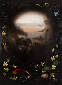 Walton Ford (b. 1960) Guilty Elephant, 1994 Oil on panel 63 x 46 inches (160.0 x 116.8 cm) Sig
