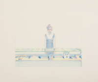 Wayne Thiebaud (b. 1920) Cosmetic Counter, 1991 Color monotype 8-3/4 x 11-3/4 inches (22.2 x 29.8