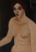 , John Graham (1886-1961). Woman at the Window, circa 1925. Oil on canvas. 28-1/8 x 20 inches (71.4 x 50.8 cm). Signed low...