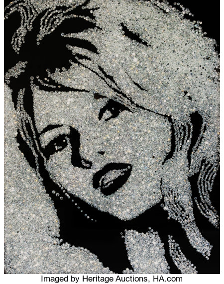 Vik Muniz (b. 1961)Brigitte Bardot (Diamond Divas), 2004Cibachrome mounted on aluminum39-1/2 x 31-1/2 inches (100....