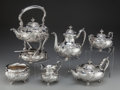 Silver Holloware, American:Tea Sets, A Six Piece Theodore B. Starr Silver Tea and Coffee Service, NewYork, New York, circa 1900-1924. Marks: (dragon-shield-S)...(Total: 6 Items)
