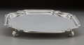 Silver Holloware, British:Holloware, An Adie Brothers Footed Tray for Tiffany & Co., Birmingham,England, circa 1950. Marks: (lion passant), (anchor) A, A...