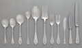 Silver Flatware, American:Tiffany, A Sixty-Seven Piece Tiffany & Co. Flemish Pattern SilverFlatware Service for Eight, New York, New York, designe... (Total:68 Items)