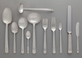 Silver Flatware, American:Tiffany, A One Hundred One Piece Tiffany & Co. Hampton PatternSilver Flatware Service for Twelve, New York, New York, de...(Total: 95 Items)