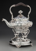 Silver Holloware, French:Holloware, A Christofle Silver-Plated Hot Water Kettle on Stand, Paris,France, circa 1865. Marks: (C, scales, C), CHRISTOFLE, 30, 10...(Total: 2 Items)