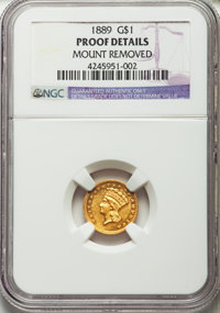 1889 G$1 -- Mount Removed -- NGC Details. Proof....(PCGS# 7639)