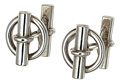 Estate Jewelry:Cufflinks, Sterling Silver Cuff Links, Hermès. ...