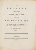 Books:Business & Economics, Adam Smith. An Inquiry into the Nature and Causes of the Wealthof Nations. In Two Volumes. London: Printed for ... (Total: 2Items)