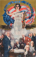 Military & Patriotic:Revolutionary War, Howard Chandler Christy (American, 1872-1952): We the PeoplePoster.. ...