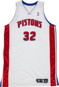 Basketball Collectibles:Uniforms, 2006-07 Richard Hamilton Game Worn Detroit Pistons Jersey withTopps Letter. ...