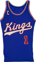 """Basketball Collectibles:Uniforms, Mid 1970s Nate """"Tiny"""" Archibald Signed Kansas City Kings Salesman'sSample Jersey...."""