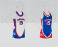 Basketball Collectibles:Others, 1974-75 Kentucky Colonels Uniform Design Artwork & OrderingRecords....