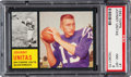 Football Cards:Singles (1960-1969), 1962 Topps Johnny Unitas #1 PSA NM-MT 8 - Only One Higher. ...