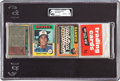 Baseball Cards:Unopened Packs/Display Boxes, 1975 Topps Baseball Unopened Rack Pack GAI NM-MT 8 With BrettRookie Showing On Back! ...
