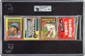 Baseball Cards:Unopened Packs/Display Boxes, 1975 Topps Baseball Unopened Rack Pack GAI NM-MT+ 8.5 With Hank Aaron Showing on Front! ...