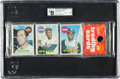 Baseball Cards:Unopened Packs/Display Boxes, 1969 Topps Baseball Unopened Rack Pack GAI NM 7 With Aaron,Clemente & Bench Showing!...