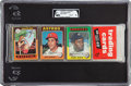 Baseball Cards:Unopened Packs/Display Boxes, 1975 Topps Baseball Unopened Rack Pack GAI NM-MT 8 With Mike Schmidt and Bobby Bonds Showing! ...