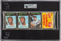 Baseball Cards:Unopened Packs/Display Boxes, 1971 Topps Baseball Unopened Pack GAI NM-MT+ 8.5 With Two HankAaron's and Al Kaline Showing! ...