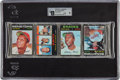 Baseball Cards:Unopened Packs/Display Boxes, 1971 Topps Baseball Unopened Rack Pack GAI Mint 9 With Hank Aaron and Curt Flood Showing On Front!...