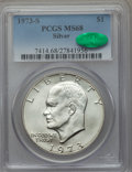 Eisenhower Dollars, 1973-S $1 Silver MS68 PCGS. CAC. PCGS Population (877/4). NGC Census: (161/2). Mintage: 869,400. Numismedia Wsl. Price for ...