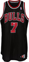 Basketball Collectibles:Uniforms, 1997-98 Toni Kukoc Game Worn Chicago Bulls Uniform Purchased fromBulls. ...