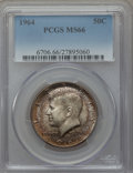Kennedy Half Dollars, 1964 50C MS66 PCGS. PCGS Population (1186/36). NGC Census:(813/44). Mintage: 273,300,000. Numismedia Wsl. Price for proble...