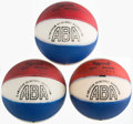 Basketball Collectibles:Balls, 1970s American Basketball Association Youth Sized Basketballs Lot of 3....