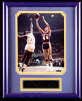Basketball Collectibles:Photos, Jerry West Signed Upper Deck Authenticated Photograph....