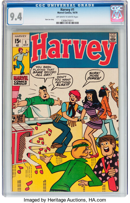 Harvey #1 (Marvel, 1970) CGC NM 9.4 Off-white to white pages....