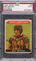 Football Cards:Singles (Pre-1950), 1933 Goudey Sport Kings Red Grange #4 PSA EX 5....