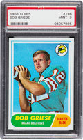Football Cards:Singles (1960-1969), 1968 Topps Bob Griese #196 PSA Mint 9 - Only One Higher....