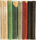 Books:Periodicals, [Bound Periodicals]. Eight Volumes of Gutenberg Jahrbuch for the Years 1926, 1927, 1929 - 1931 and 1935 - 1937. ... (Total: 8 Items)