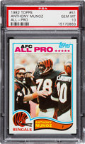 Football Cards:Singles (1970-Now), 1982 Topps Anthony Munoz #51 PSA Gem Mint 10....