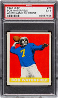 Football Cards:Singles (Pre-1950), 1948 Leaf Bob Waterfield, White Name On Front #26 PSA EX 5....