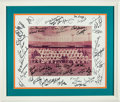 Football Collectibles:Photos, 1972 Miami Dolphins Team Signed Vintage Photograph and Matte....